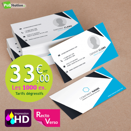 Carte de visite en papier Recto/Verso