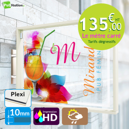 Plexiglas transparent 10 mm